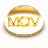 3D Style file format icon - MOV — Stock Photo