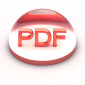3D Style file format icon - PDF — Stock Photo