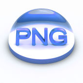 3D Style file format icon - PNG — Stock Photo