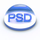 3D Style file format icon - PSD — Stock Photo