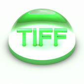 3D Style file format icon - TIFF — Stock Photo