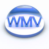 3D Style file format icon - WMV — Stock Photo