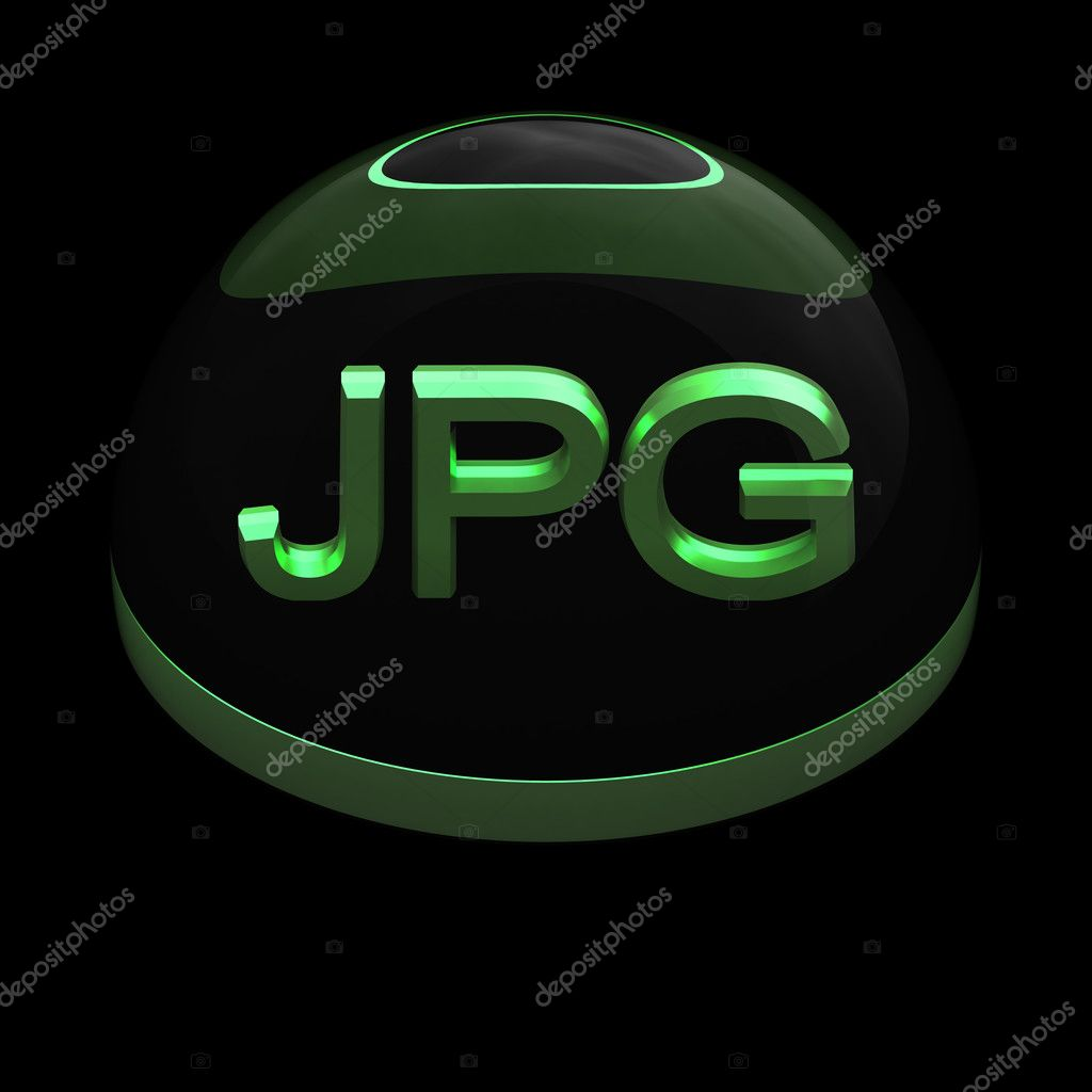 3D Style file format icon over black background - JPG  Stock Photo #9737617