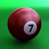 Kleurrijke zwembad bal over groen — Stockfoto