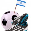 图库照片: Soccer ball or football with national flag