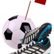 Soccer ball or football with national flag — Stock Photo #10265870