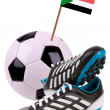 Royalty-Free Stock Photo: Soccer ball or football with a national flag