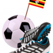 Soccer ball or football with a national flag - Stockfoto