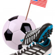 Soccer ball or football with a national flag — Stock Photo #10266129