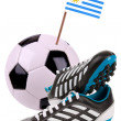 Soccer ball or football with a national flag — Stock Photo