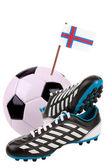 Balón de fútbol o fútbol con una bandera nacional — Foto de Stock
