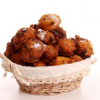 Oliebollen, dutch traditional new year pastry — Stock Photo #8061549