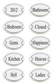 Door name plates — Stock Photo