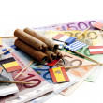 Euro under pressure — Stock Photo