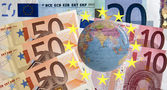 Euro zone in the world — Stock Photo