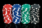 Stacks of poker chips — Stockfoto