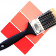 Red color swatch — Stock Photo