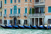 Venice view with gondolas — Foto de Stock