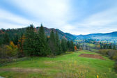 Autumn mountain village — Stockfoto