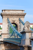 Budapest Chain Bridge view — 图库照片