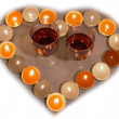 Stock Photo: Candle heart