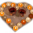 Royalty-Free Stock Photo: Candle heart