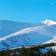 Winter morning mountain panorama — Stock Photo