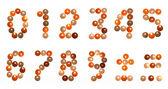 Svíčka číslice písmo — Stock fotografie