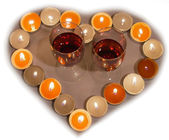 Candle heart — Stock Photo
