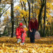 Family in autumn park — Stock Photo #8026826