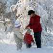 Stock Photo: Family in winter park