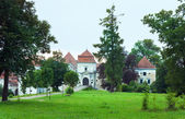 Svirzh Castle park view(Ukraine). — Stock Photo