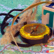 Compass and map — Stock Photo #8098021