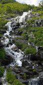 Mountain stream waterfall — Stockfoto