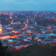 Lvov-City (Ukraine) panorama — Stock Photo