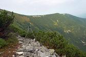 Stativ na hoře — Stock fotografie