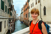 Woman tourist in Venice — Stock Photo
