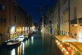 Venetië nacht weergave — Stockfoto