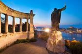 Boedapest nacht weergave — Stockfoto