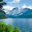 Alpine summer lake view - Stock Photo