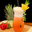 Strawberry pina colada - Stock Photo