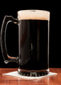 Stout Isolated on black — Stock Photo