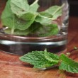 Fresh mint in a glass - Stock Photo