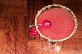 Sour cherry martini — Stock Photo