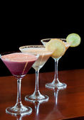 Dessert Martinis — Stock Photo