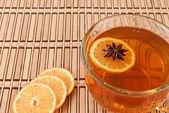 Anise star in hot tea — Stock Photo
