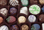 Organic hand crafted chocolate — Stock Photo