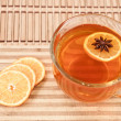 Anise star in hot tea - Stock Photo