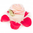 Rose shaped cupcake — Stock Photo #8730314
