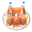Stock Photo: Sand castle cake